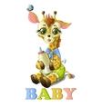 Cute baby giraffe vector image vector image