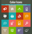 data analytic and social network icons set vector image