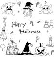 Doodle of Happy halloween flat vector image vector image