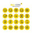 easy icons 43c computer security vector image