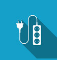 electric extension cord icon power plug socket vector image vector image
