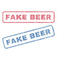 fake beer textile stamps vector image vector image