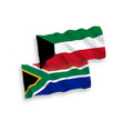 flags kuwait and republic south africa on a vector image vector image