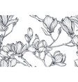 floral seamless pattern magnolia vector image vector image