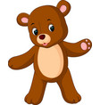 funny bear cartoon vector image vector image