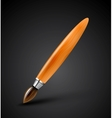 Glossy wooden brush icon vector image