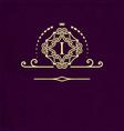 gold emblem patterned frame around the letter i vector image vector image