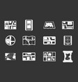 gps map icon set grey vector image