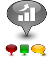 growth speech comic icons vector image vector image