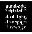 gumbody alphabet typography vector image vector image