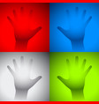 hand fog glass vector image vector image