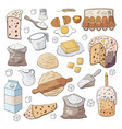 happy easter holiday ingredients for cooking vector image vector image