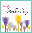 happy mother day with tulip vector image vector image