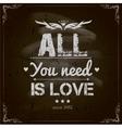 Happy Valentines Day Design Blackboard vector image