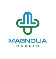 health logo initials m vector image vector image