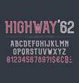 highway decorative bold font design alphabet vector image vector image