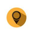 isolated location icon for maps on a yellow vector image vector image