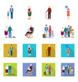isolated object of character and avatar icon vector image