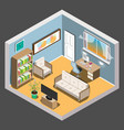 isometric room vector image vector image