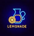lemonade neon label vector image vector image