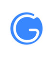 letter logo modern abstract blue icon of g vector image vector image