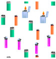 lighter icon seamless pattern vector image vector image