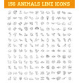 line animals consepts icons set vector image