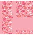 Lips set of seamless pattern backgrounds and vector image