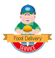 logo meal delivery vector image vector image