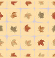 maple leaves seamless pattern background vector image