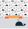 Maritime card vector image vector image