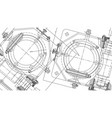 mechanical engineering drawing engineering vector image vector image