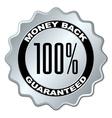 money back guaranteed label vector image vector image