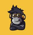 monkey music vector image