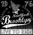 new york brooklyn fashion tee graphic design vector image vector image
