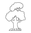 Oak tree icon outline style vector image