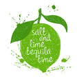 Of Isolated Lime Silhouette vector image