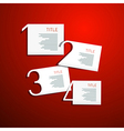 One Two Three Four Steps for Tutorial Infographics vector image vector image