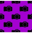 Photo camera web icon flat design Seamless gray vector image