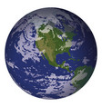planet earth isolated on white vector image vector image