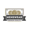 premium quality menswear vintage isolated logo vector image