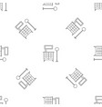 room clothes drawer pattern seamless vector image