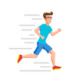 running man sport run active fitness exercise and vector image