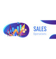 sales growth concept banner header vector image vector image