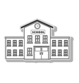 School building architecture vector image