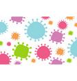 seamless background template with coronavirus vector image