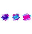 set of abstract liquid shape flat geometric vector image