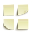 Set of yellow sticky notes vector image vector image