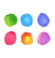 set rainbow watercolor circles stains vector image vector image