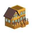 silhouette colorful house with two floors vector image vector image